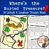 Latitude & Longitude Practice - 10 Treasure Hunts - Part 1