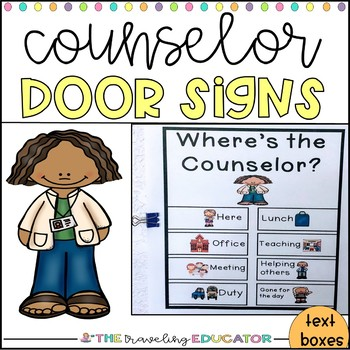 Where's the Counselor?  Door Signs