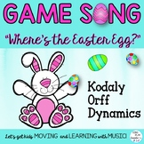 """Spring Game Song """"Where's the Easter Egg"""" Dynamics, Kodaly and Orff Lessons"""