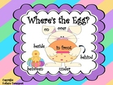 Where's the Egg?  A Game of Spatial Concepts