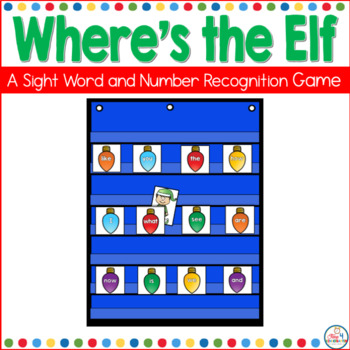 Where's the Elf- A Sight Word Recognition Game