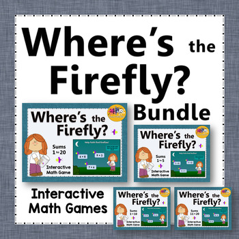 Where's the Firefly? Sums 1 to 20 Bundle (Interactive Addition Games)