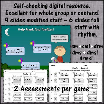 Where's the Firefly? Melody BUNDLE (Interactive Games and Assessments)