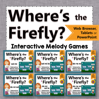 Melody Games: Interactive Music Game + Assessment {Firefly}