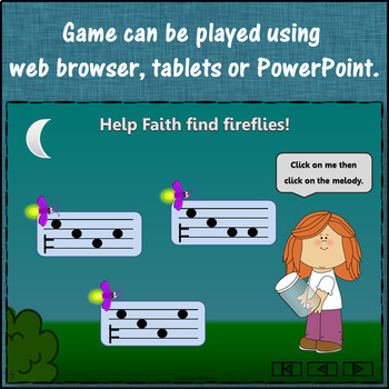 Melody Game: Do Mi Sol Interactive Music Game + Assessment {Firefly}