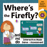 Solfege    Do Mi Sol Interactive Melody Game + Assessment {Firefly}
