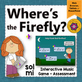 Solfege   Sol Mi Interactive Melody Game + Assessment {Firefly}
