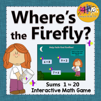 Interactive Math Game Addition to 20 {Firefly} by ABC Interact With Me