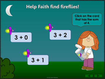 Where's the Firefly? Sums 1 to 5 (Interactive Addition Game)