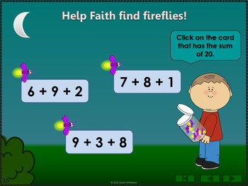 Where's the Firefly? Sums 11 to 20 (Interactive Addition Game)