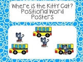 Where's the Kitty Cat? Prepositional Word Posters