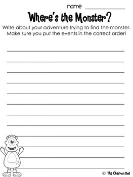 Where's the Monster? Scavenger Hunt Sequencing, Context Clues, & Inferencing