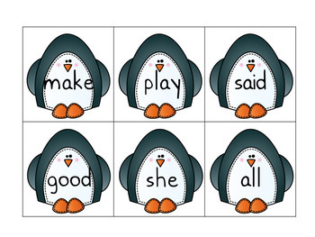 Where's the Polar Bear- A Sight Word Recognition Game