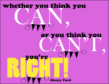 """""""Whether you think you can.."""" Printable Classroom Poster"""