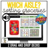 Which Aisle? Grocery Sorting Drag & Drop Boom Cards SS