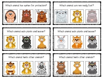 Which Animal? Science Clip Cards