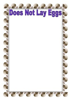 Which Animals Lay Eggs? (Printable Version)
