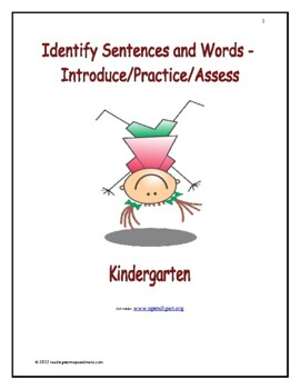 Which Are Letters and Which Are Words: Introduce/Practice/Assess - Kindergarten