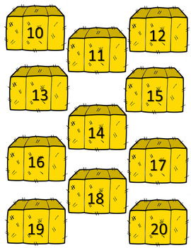 Number & Number Word Recognition - Which Barn is Mine?