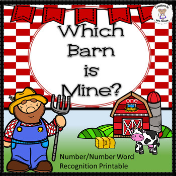 Math-Number Recognition & Words - Which Barn is Mine?