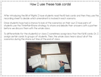 Which Bill Of Rights Bill Of Rights Task Card Activity Tpt