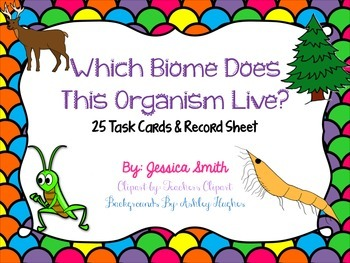 Which Biome Does This Organism Live? Task Cards