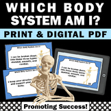 Printable Human Body Systems Distance Learning Task Cards 4th 5th Grade Science