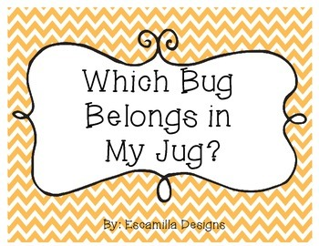 Spring Literacy Centers & Activities: Which Bug Belongs in My Jug?