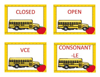 Which Bus???  An Activity for the Six Types of Syllables