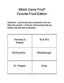 Which Came First?  Favorite Foods Edition
