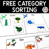 Free Category Sorting Activity