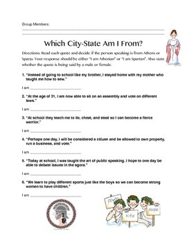 Which City-State Am I From Quiz!