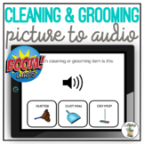 Which Cleaning & Grooming Item? Picture to Audio Boom Cards