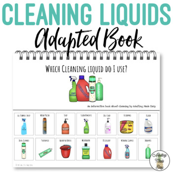 Which Cleaning Liquid Do I Use Life Skills Adapted Book