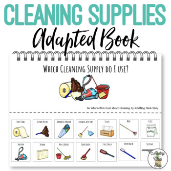 Which Cleaning Supply Do I Use Life Skills Adapted Book