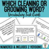 Which Cleaning or Grooming Word Task Cards