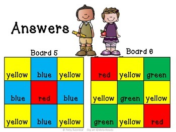 Patterning- A Visualizing Activity - Which Color Goes There?