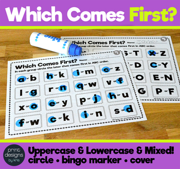 Which Comes First - ABC Order Beginner Activity