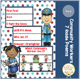 Which Community Worker Am I? Pocket Chart Riddles