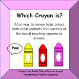 Which Crayon Is?  Identifying colors with audio prompts Pr