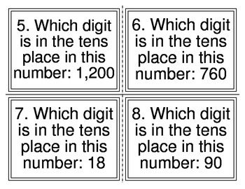 Which Digit Place Value Task Cards (32 Cards)