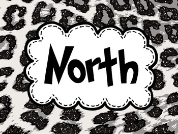 Which Direction?  North South East West labels