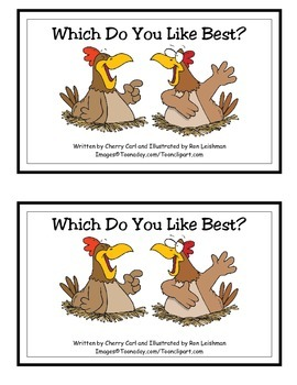 Which Do You Like Best? Guided Reader (est and ike Word Families)