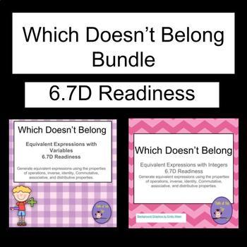 Which Doesn't Belong?  Bundle- TEKS 6.7D