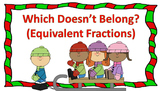 Which Doesn't Belong? (Equivalent Fractions) Task Cards