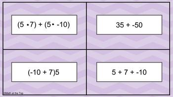 Which Doesn't Belong?  Generating Equivalent Expressions - TEKS 6.7D