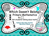 Which Doesn't Belong - Numbers, Fractions, Money. Math Talks & Math Centers!