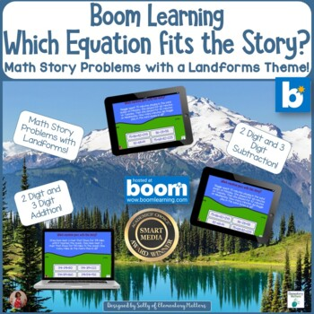 Which Equation Goes With This Story Landforms Theme   BOOM Cards