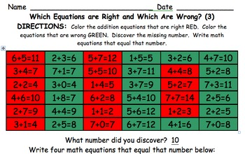 Which Equations Are Right and Which Are Wrong? (Addition and Subtraction)