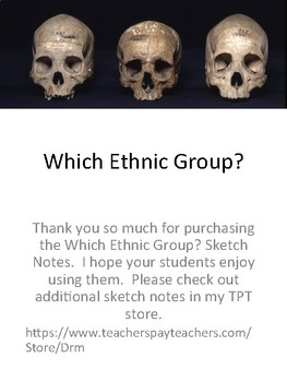 Which Ethnic Group? Forensic Anthropology Sketch Notes Doodle Notes